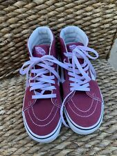 Vans Suede High Tops Skate Shoes Brick Red Suede Womens 6.5 Mens 5 EUC