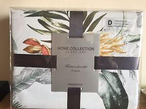 Stunning Home Collection Cloth Art Double Luxury Duvet Set 100% Egyptian Cotton