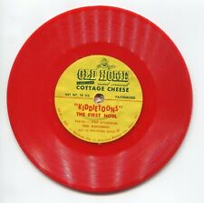 1950s Old Home Cottage Cheese Kiddietoons Xmas Record 78rpm Advertisement Promo
