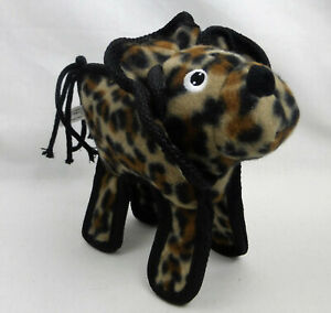 Lion Dog Toy Animal Print Brown Black Beige Squeaker Embroidered Eyes Nose New