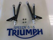 TRIUMPH DAYTONA 675 REAR RIGHT & LEFT HANGER & FOOT PEG 2013 T2082151 T2082150