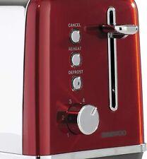 Daewoo SDA1584, Red 2 Slice Toaster