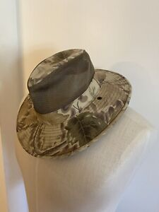 New J Hats Camo Mesh Brim Sun Protection Fedora Style Hat Hiking Camping size m