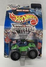 Grave Digger Hot Wheels 2000 Monster Jam NEW!!Long Card