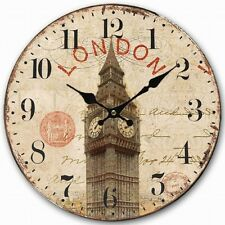 Retro Vintage UK London Big Ben Clock Home Decorative Wall Clock Wood 34CM