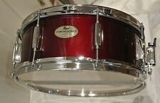 CHECK IT OUT!!! PEARL WOODEN SNARE DRUM in RED WINE for DRUM SET #M860