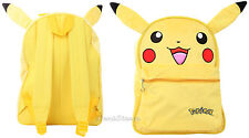POKEMON GO Yellow ears FUR PIKACHU NINTENDO GAME NES ANIME BACKPACK BOOK BAG NEW