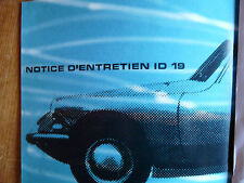 Notice d'emploi - Citroën ID 19