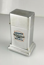 VINTAGE ZIPPO BARCROFT ADVERTISING TABLE LIGHTER – ADVANCE RELAYS - 1950's