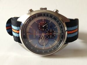 SEIKO V175-0EN0 CHRONOGRAPH BOX SOLAR MENS WATCH AUTHENTIC WORKING