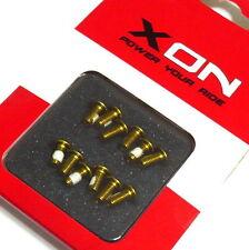 XON XSS-02 Disc Rotor Screws / Bolts, M5x10mm, Gold, N78