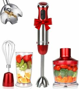 KOIOS 800W 4-in-1 Multifunctional Hand Immersion Blender, 12 Speed, 304