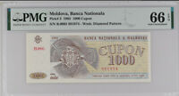 Moldova 1000 Cupon Coupon 1993 P 3 Gem UNC PMG 66 EPQ
