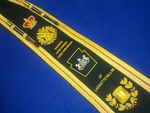 Pipe / Drum Major, Marching Band   Sash Baldric   Hand Embroidered by Geoffrey