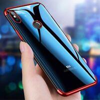 For Xiaomi Mi A1 A2 Lite F1 8 Max 3 Mix2S Slim Plating Clear Soft TPU Case Cover