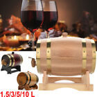 1.5L 3L 5L 10L Wood Wine Barrel For Beer Whiskey Rum Port Wooden Keg with Stand