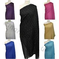New With Stone Lace Pashmina Scarf Shawl Stole Wrap High Quality 100% Viscose UK