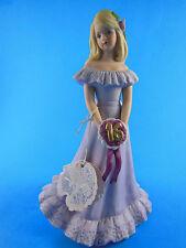 "Growing Up Birthday Girls Age 16 Blonde Figurine Enesco lavender E7293 MWTAG 7"""