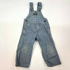 Vintage Oshkosh B'gosh Usa Made Sanforized Denim Overalls Usa Railroad Stripe 3T