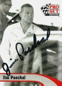 JIM PASCHAL  -  Autographed  1992 Pro Set  Card #L20