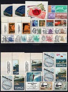DT149136/ TONGA / YEARS 1961 - 1985 MINT MNH MODERN LOT – CV 132 $