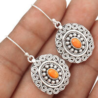Artisan - Coral 925 Sterling Silver Earrings Jewelry AE7016