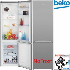 No Frost Kühl-Gefrierkombination 181 cm Stand Kühlschrank Umluft Kühlung Silber