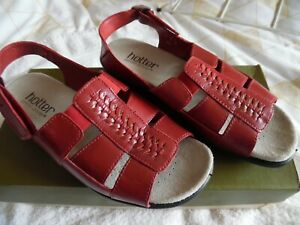 Hotter Caprice Red Sandals  Size 3 Brand new in box