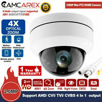 CCTV TVI, AHD CVI CVBS 4 in 1 Outdoor 1080P IR Dome PTZ Camera 4x zoom HD 2MP UK