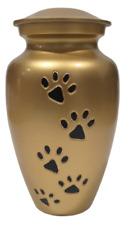 PraiseDeco Aluminium Dog ash Urn 8 inch With Velvet Bag