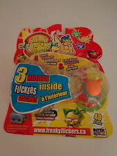 Freaky Flickers Orange-Green 3 Hidden Stickers Interactive Toy Factory Sealed