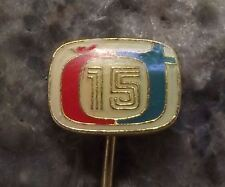 1968 Ceska Televize Czech State Television TV Broadcaster Anniversary Pin Badge