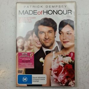 Made of Honour DVD - Patrick Dempsey - Region 4 PAL - FREE TRACKED POST