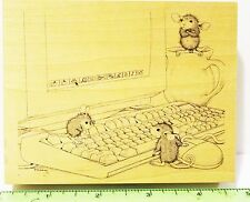 House Mouse COMPUTER TUTORS rubber stamp Stampa Rosa NEW monica maxwell mudpie