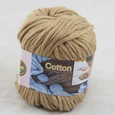 1Ball  50g Special Thick Worsted 100% Cotton Hand Knitting Yarn Sand 422-11