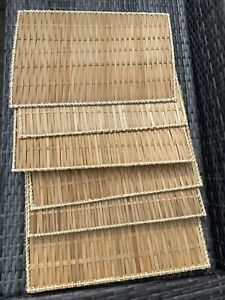 6 X Large Woven Wicker Placemats