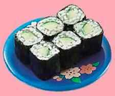 Re-ment Dollhouse Miniature Japanese Food - Cucumber Maki Sushi Roll 0.5cm