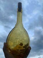 Vintage JENNY LIND Empire Glass Works Bottle Topaz RARE UNIQUE DESIGN ❤️sj7m