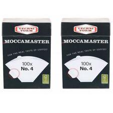 2 x MOCCAMASTER - Filter No.4 (je 100 Filtertüten) Technivorm