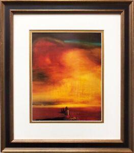 """Salvador Dali """"Sugar Sphinx"""" CUSTOM FRAMED ART Surreal Surrealism Back Sunset"""
