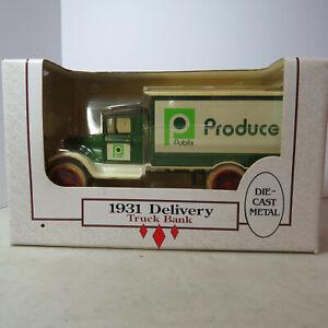 "Ertl 1931 Delivery Truck ""Publix Produce"" 1/34 PL-7696-10EO-B-11"