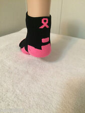 *** 1 Pair Ladie's Performance Elite Breast Cancer Awareness Ankle Socks***