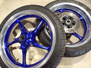 Yamaha R6 5SL 2C0 front & rear wheel wheels custom polished STUNNERS 05 06 07