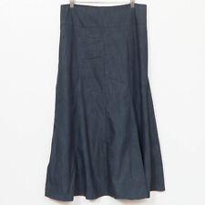 The Skirt Outlet Denim Skirt S Long Modest Flare Panels Blue Jean Womens