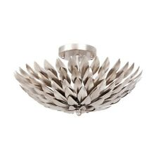 Crystorama Broche 4 Light Antique Silver Ceiling Mount - 505-SA