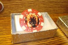 Ghost Rider Burning-Flames SKULL Image design Aluminum Poker Chip Money Clip
