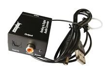 R/L RCA Analog to Digital Optical Coaxial Toslink Audio Converter + Optic Cable