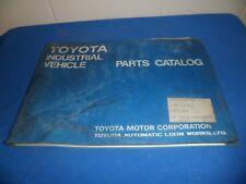 (Drawer 30) Toyota Forklift Parts Catalog Industrial Vehicle 7454-02-2FDC25 V