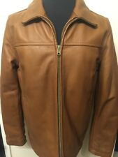 Vince Camuto Men's Leather Coat Jacket Wilsons Brown Size Small NWT Retail $795