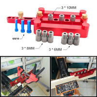 6/8/10mm Woodworking Dowel Jig Joinery Hole Locator Drilling Tool Set